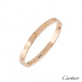 Cartier Rose Gold Love Bracelet Size 18 B6035618